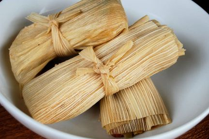 Classic tamale wrapped in corn husks